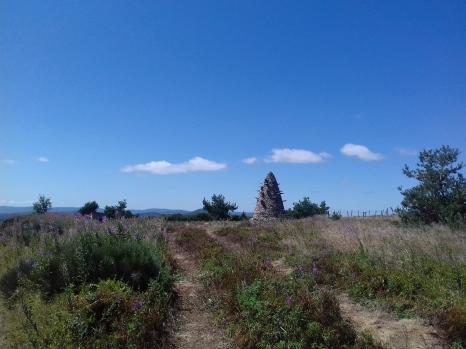 La ligne de partage des eaux... près du Mont Gerbier de Jonc...
